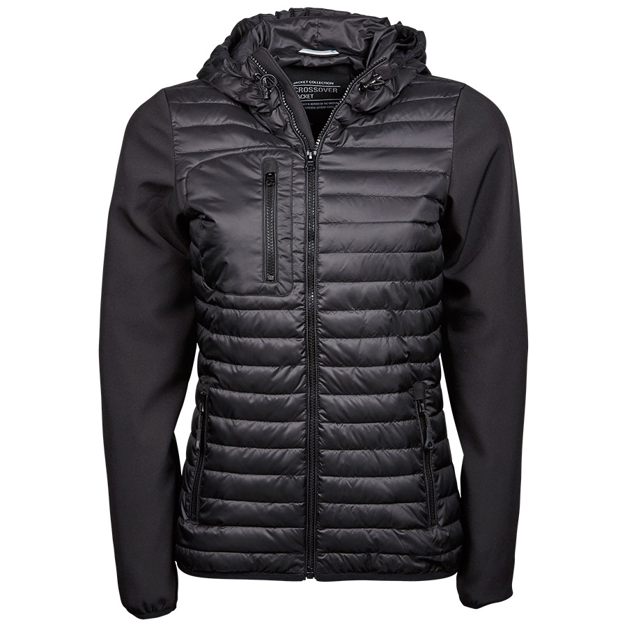 Ladies Hooded Crossover Jacket model 9611