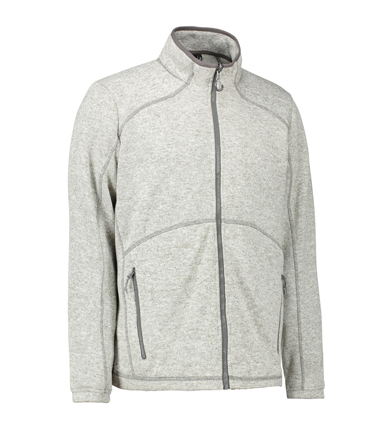 Zip n mix Melange Fleece Herre fra ID Identity