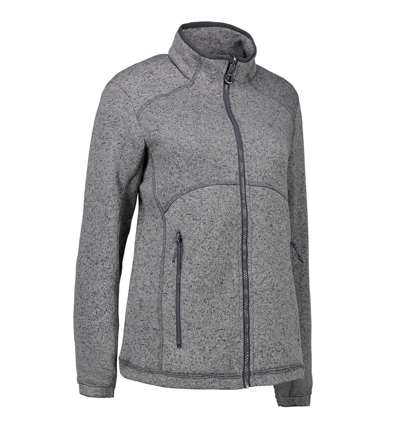 Zip n mix Melange Fleece Dame fra ID Identity