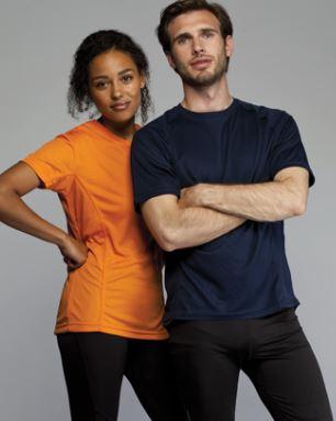 DHL Performance løbe t-shirt i mange farver, dame og herre model