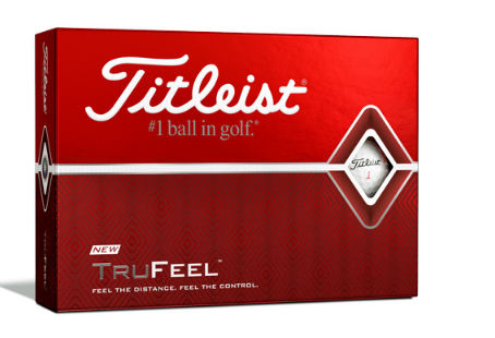 Logo golfbold Titleist TruFeel, rammer rigtig bredt til en skarp pris, inkl. logo