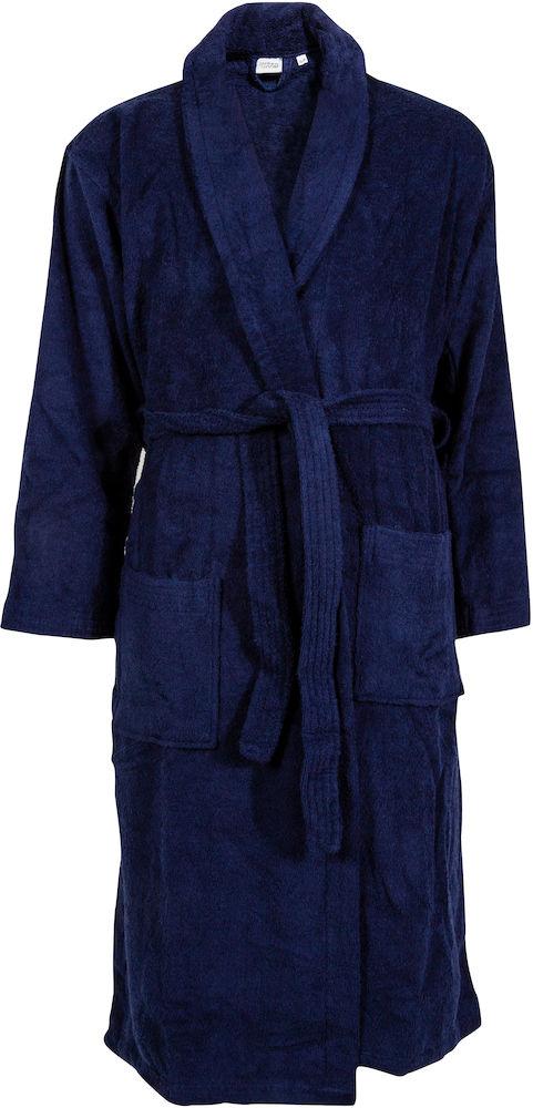 Badekåbe model Queen Anne, er en god prisbillig morgenkåbe. Kommer i 2 farver, Navy og Mørkegrå