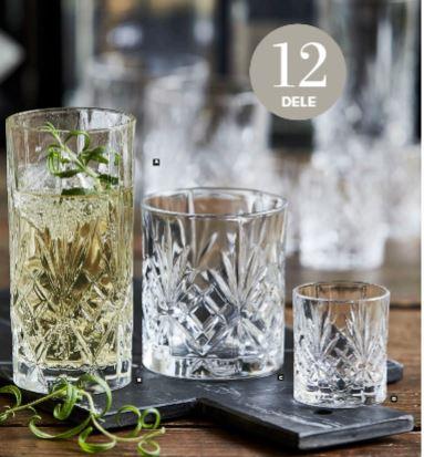 Lyngby Glas melodia glassæt 12 stk. så er du klar til at servere