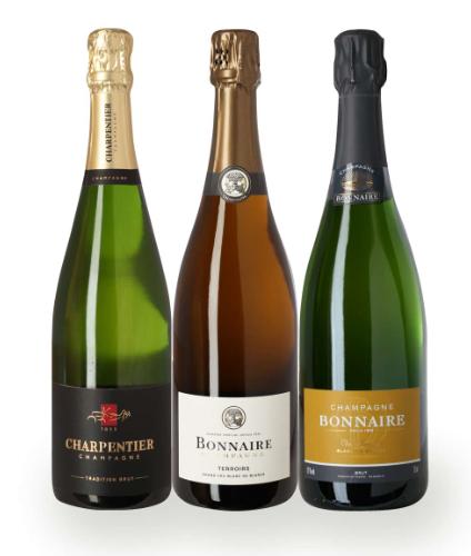Vinpakker med bobler fra Frankrig. En fin blanding af bobler. Her er Champagne bland andet fra grand cru marker, så man er dækket godt ind.