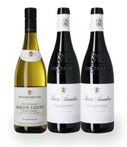 Gavepakke med vine fra Frankrig, en god pakke som repræsentere Frankrigs sydlige region på fornemmeste vis. God fornøjelse.