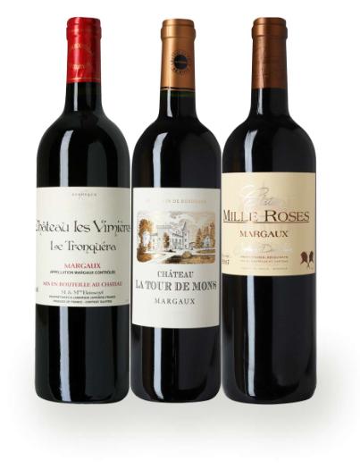 Vinpakke Je t'aime Margaux, så bliver det vil ikke mere klassisk fransk, fra det vinområdet Margaux. En flot pakke med rigtig gode vin med lidt år på sig.