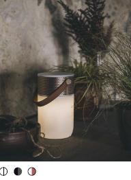 KREAFUNK MULTIFUNKTIONEL BLUETOOTH HØJTALER,aGLOW kommer i et lækkert cirkulært design. Afspil din musik, indstil LED lyset. Kan oplades trådløst.