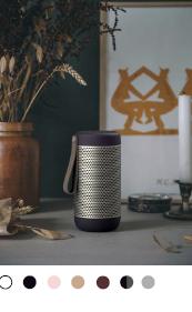 KREAFUNK aCOUSTIV bluetooth højtaler, med sit moderne udseende passer aCOUSTIC ind i ethvert hjem.True Wireless Stereo, kan forbinde aCOUSTIC højtalere