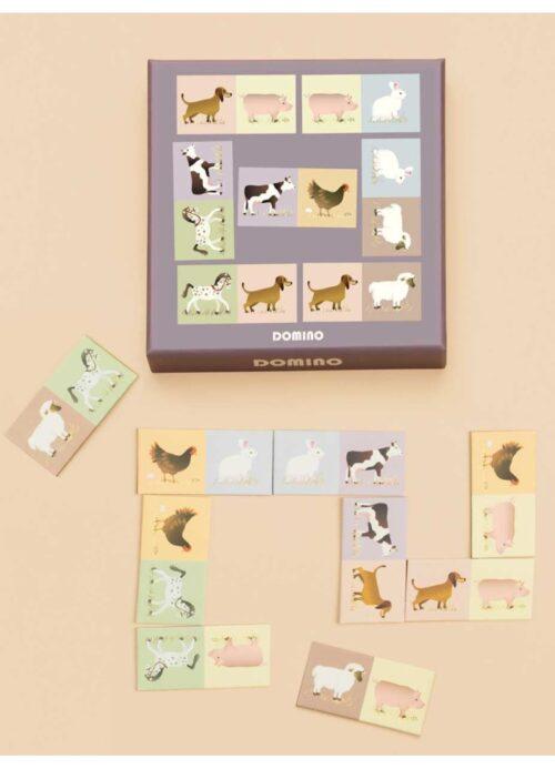 ViSSEVASSE DOMINO børnespil. 2021 nyhed, Domino med dyr til de mindste. Domino er et hyggeligt spil for hele familien.