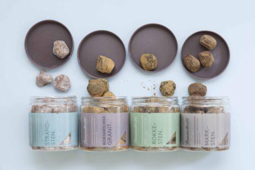 Karamelleriets klippestykker, er vi meget stolte af vores Klippestykker som også er blevet en af vores mest populære karameller