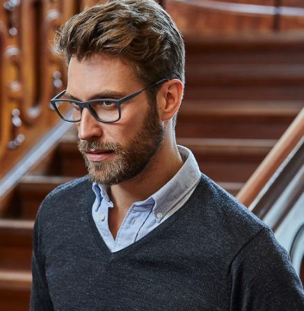 Tee Jays Strik rund hals Herre, Klassisk strikket V-neck sweater i høj kvalitet, fremstillet af italiensk merinould. Fine rib-detaljer, en klassisk design