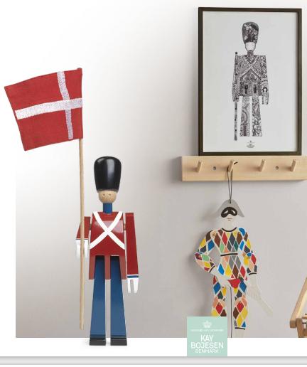 Kay Bojesen fanebærerener inspireret af et af Danmarks nationalsymboler fra Amalienborg Slotsplads skabte Kay Bojesen i 1942