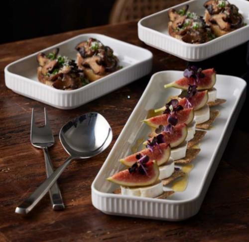 Pillivuyt og Gense Tapassæt, Plissé er kendt verden over som indbegrebet af diskret, fransk elegance og Genses serveringsbestiks flot design