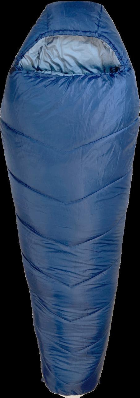 AMAROQ Sovepose i blå, er en førsteklasses sovepose til begyndere. Den giver en stor komfort til kolde dage.